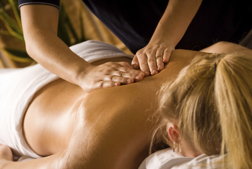 Woman at Day Spa Getting a Massage